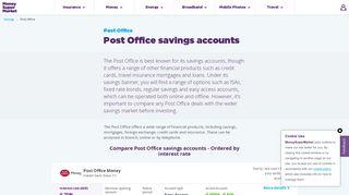 Compare Post Office Savings Accounts | moneysupermarket.com