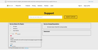 Support   Microsoft Power BI