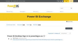 Power BI Desktop Sign in to powerbigov.us - Power BI Exchange ...