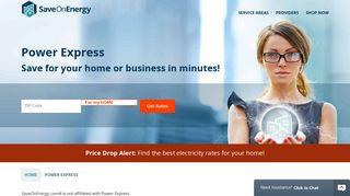Power Express in Texas | SaveOnEnergy.com