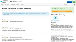 Power Express Reviews provided by myTrueCost.com