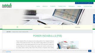 Share Market Software & Online Trading Platform | Power Indiabulls ...