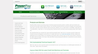 Merchant Payment Processing   PowerPay Products & Services