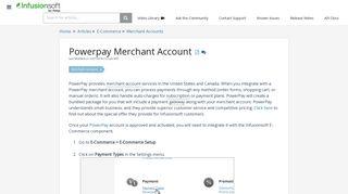 Powerpay Merchant Account   Infusionsoft Pro