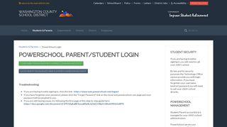 PowerSchool Login - Washington County School District