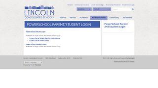 PowerSchool Parent and Student Login - Parent/Students - Home