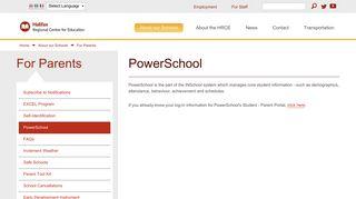 PowerSchool | Halifax Regional Centre for Education