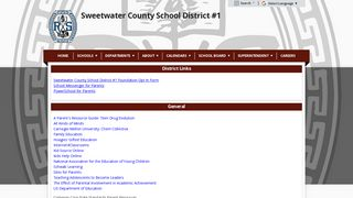 General Links - Sweetwater County School District #1