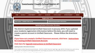 Student Registration - Sweetwater County School District #1