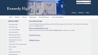 PowerSchool Links - Kennedy High School - Waterbury Public Schools