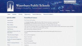 PowerSchool Contract - Waterbury Public Schools