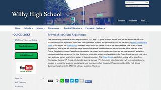 Power School Course Registration - Wilby High School