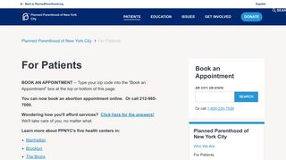 For Patients | Planned Parenthood of New York City