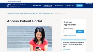 Access Patient Portal | Planned Parenthood of the North Country New ...