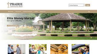 Prairie Community Bank: Home