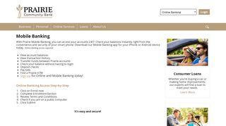Mobile Banking - Prairie Community Bank