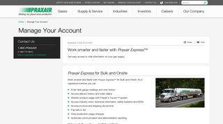 Manage Your Account - Praxair
