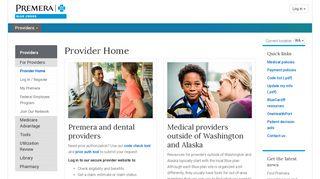 Provider Home | Provider | Premera Blue Cross