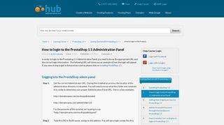 How to login to the PrestaShop 1.5 Administration Panel | Web ...