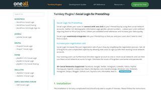 PrestaShop Social Login   docs.oneall.com