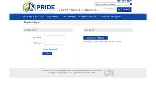 PRIDE Enterprises : Member Login