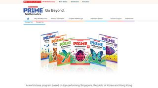 Scholastic PR1ME Mathematics - A world-class math program based ...