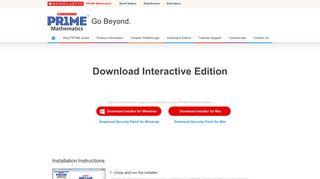 Download Interactive Edition - Scholastic PR1ME Mathematics