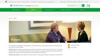 Visitors | ProMedica Toledo Hospital