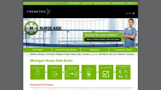 Michigan Nurse Aide Exam - Prometric