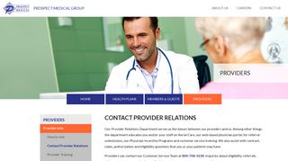 Contact Provider Relations : Prospect Medical Group