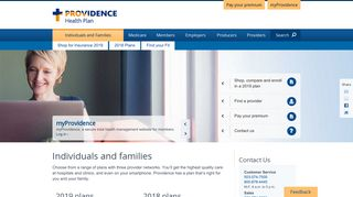 Individuals and families - Providence Health Plan