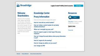 BCIS Proxy - Broadridge Corporate Issuer Solutions, Inc.
