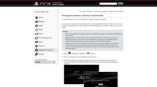 PS3™ | Saving your password / Signing in automatically - Playstation.net