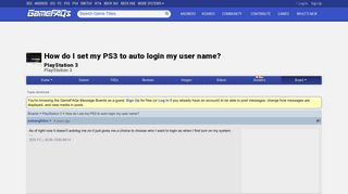 How do I set my PS3 to auto login my user name? - PlayStation 3 ...