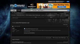 Guide [video] PSO2 Registration+Login - PSO-World.com