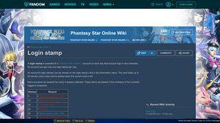 Login stamp   Phantasy star online Wiki   FANDOM powered by Wikia