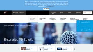 Public Relations Solutions - West Unified Communications Services
