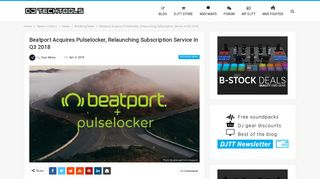 Beatport Acquires Pulselocker, Relaunching Subscription Service in ...