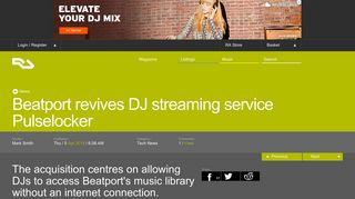 RA News: Beatport revives DJ streaming service Pulselocker