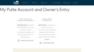 My Account / Owner's Entry - Pulte Homes