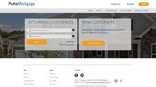 Login - Pulte Mortgage
