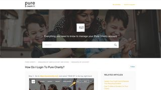 How do I login to Pure Charity? – PURE CHARITY