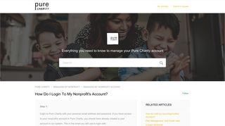 How Do I Login To My Nonprofit's Account? – PURE CHARITY