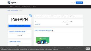 PureVPN Affiliate Program - VigLink