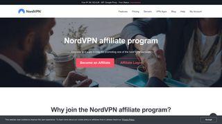Join our VPN Affiliate Program & Make Money Now | NordVPN