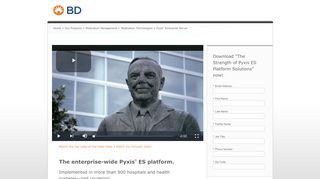 The enterprise-wide Pyxis ® ES platform. - Becton Dickinson