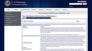 Pyxis MedStation Enterprise Server (ES) System - VA OIT - VA.gov