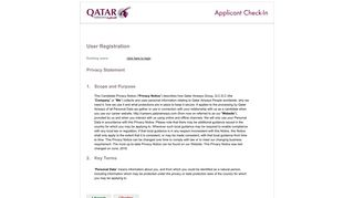 User Registration - Qatar Airways Careers
