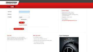 Bridgestone TyreLink: Login