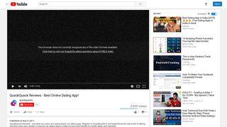 QuackQuack Reviews - Best Online Dating App! - YouTube